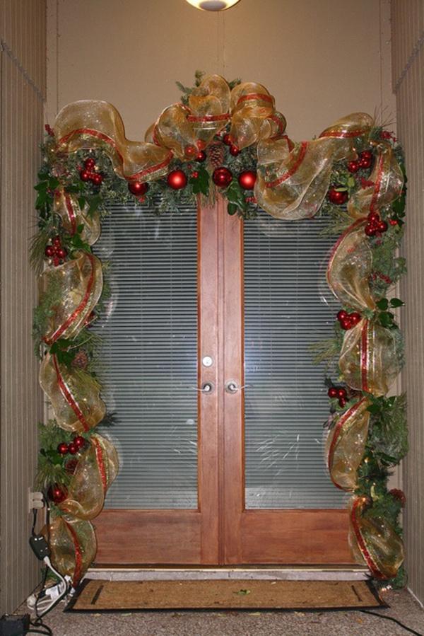 hauseingang dekorieren diy für weihnachten