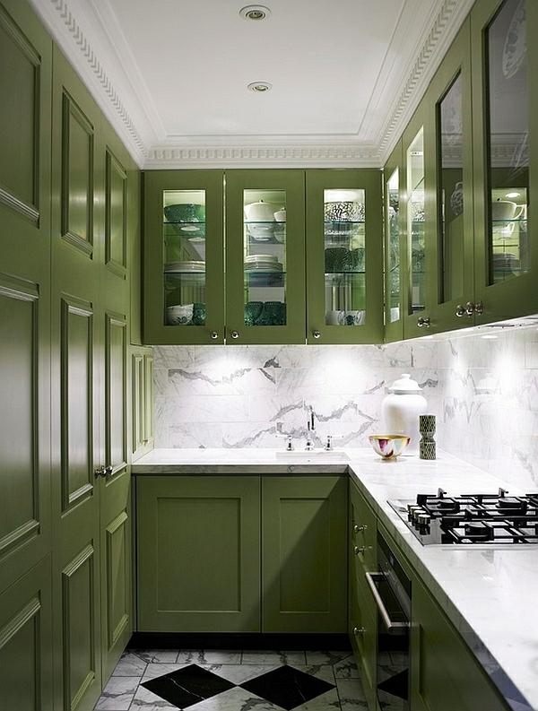 haushalt möbel grün farben für küchenschränke klein contemporary