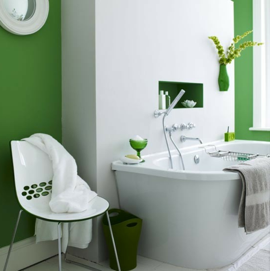 hell grün badezimmer moderne möbel
