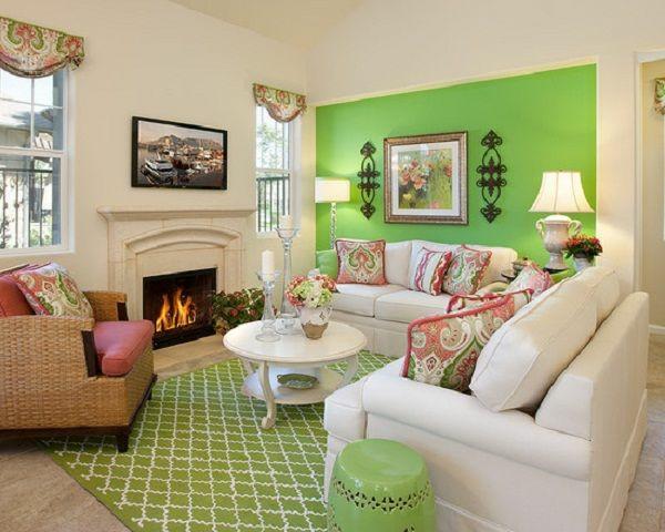 hell grün frisch frühling wohnzimmer weiß schöne wandfarben wohnzimmer
