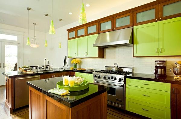 grün zitronen küchenschränke haushalt möbel