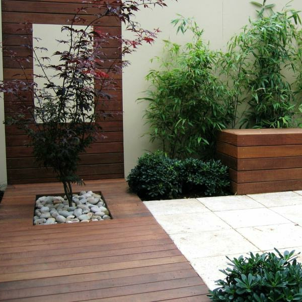 Terrasse Holz Stein Kombination Perfect Holzplatten Terrasse