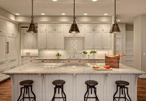 hocker metall  weiß klein küche pendelleuchten