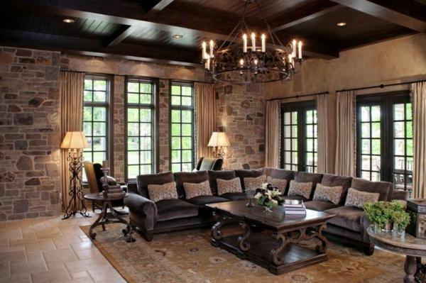 holz inspiration im wohnzimmer sofa  tisch