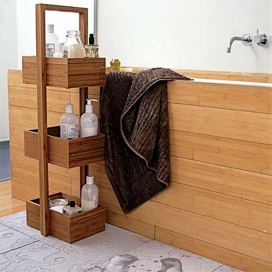 badezimmer regal holz slagerijstok. Black Bedroom Furniture Sets. Home Design Ideas