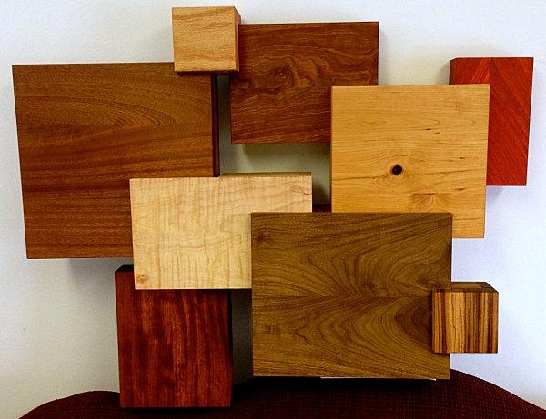 holz wanddeko ideen geometrisch modular