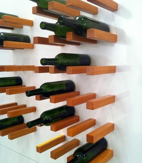 Weinregal bauen 25 stilvolle ideen zum selbermachen - Botelleros de madera rusticos ...