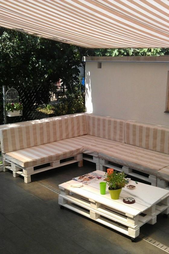 ideen für terrassengestaltung tarrassenmöbel aus paletten gartenmöbel gartentisch