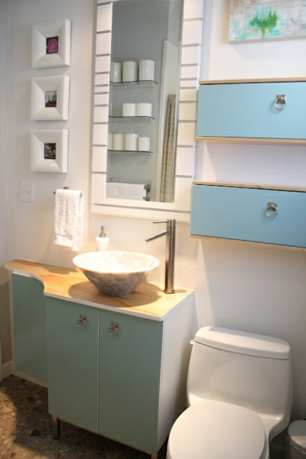Ikea Möbel Wankasten Hellblau Toilette