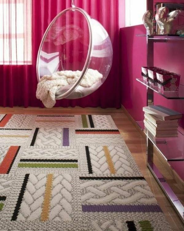 interessanter stuhl dekoideen mädchen rosa wände