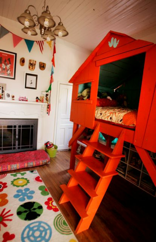 interior design ideen kinder schlafzimmer baumhaus als bett