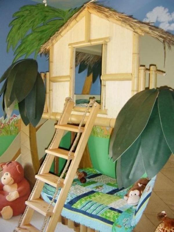 interior ideen für kinderzimmer spielplatz holzhäuschen