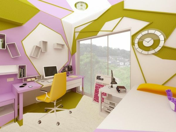 Jugendzimmer Design Ideen Extravaganter Look Abstrakte