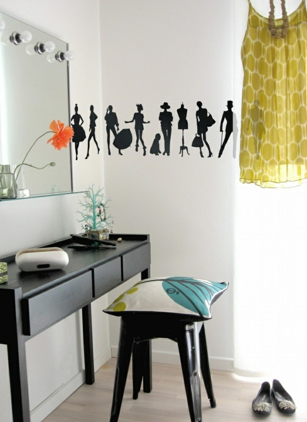 jugendzimmer design ideen toller schminkentisch wanddeko