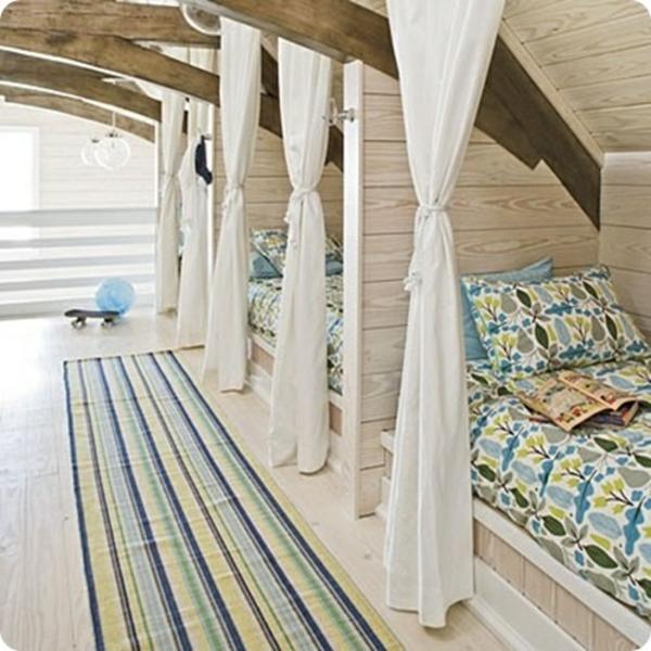 jugendzimmer designideen einbaubetten attische gestaltung