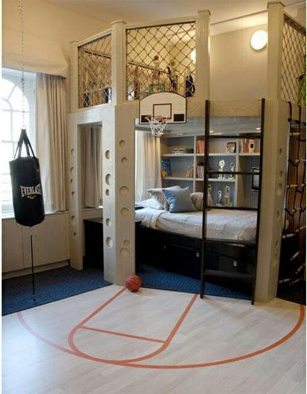 Jugendzimmer Einrichten Stockbett Spielplatz Treppe