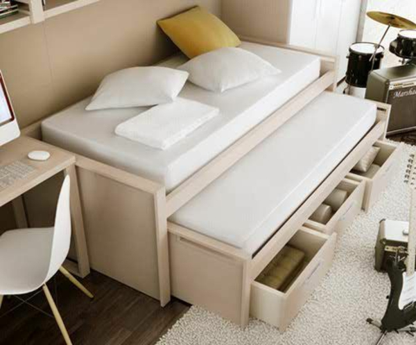 jugendzimmer einrichtungsideen bett mehr laggerraum