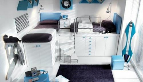 jugendzimmer einrichtungsideen jungenzimmer blau brüder