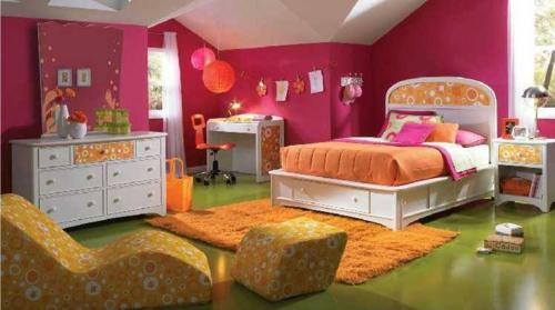 jugendzimmer einrichtungsideen mädchenzimmer farbgestaltung