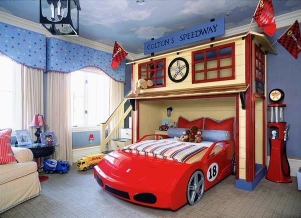 jungenzimmer einrichten auto bett dekoideen sofa - Kinderzimmer Junge Auto