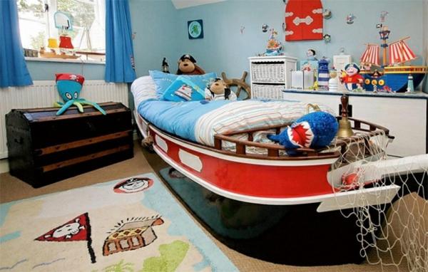 jungenzimmer einrichten boot bett
