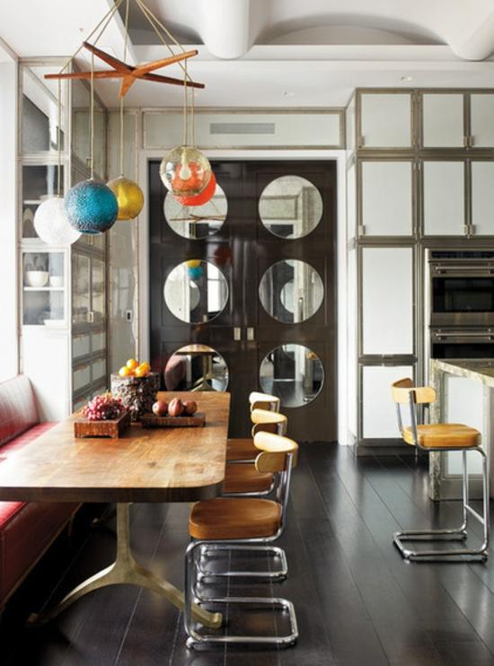 küche mit essbereich einrichten moderne einrichtungsideen hängeleuchte