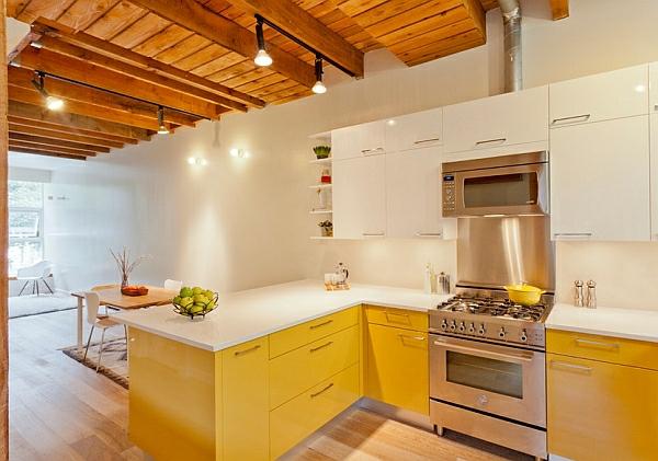 möbel gelb holz küchen haushalt  zimmerdecke rustikal