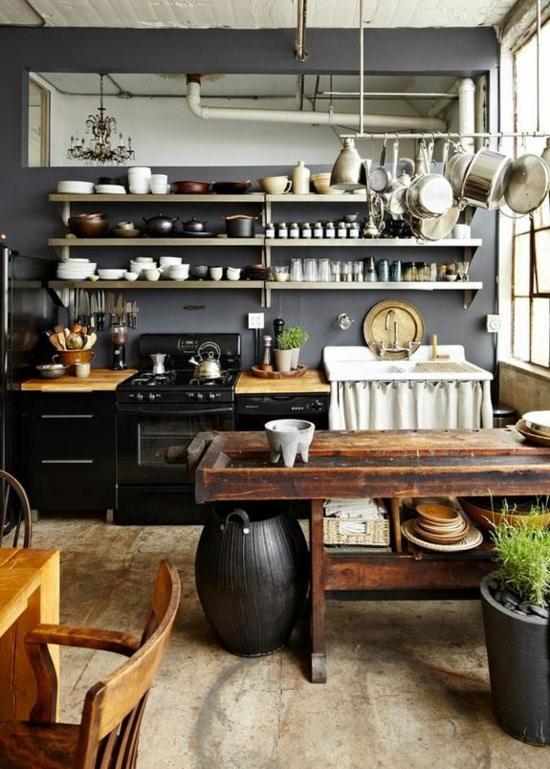 Küchen Modern Landhausstil Kübel Regale Schiene 50 Moderne Landhausküchen U2013  Küchenplanung Und Rustikale Küchenmöbel ...
