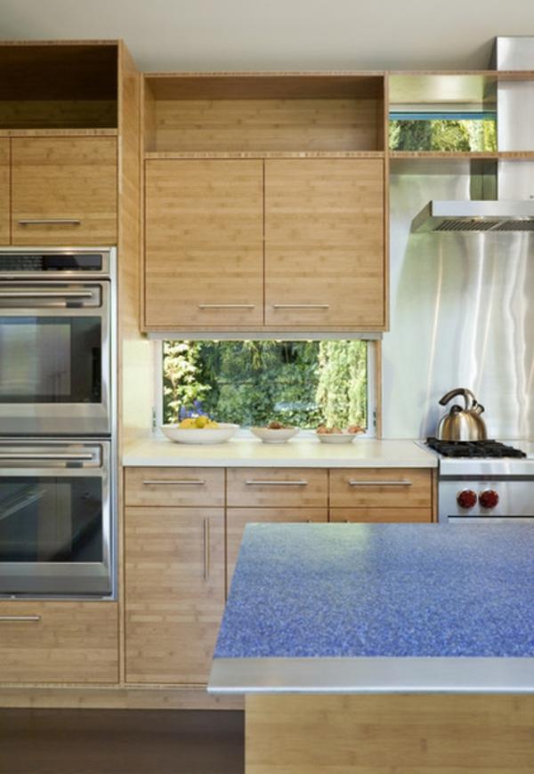 küchenarbeitsplatten granit oder aluminium holz küche