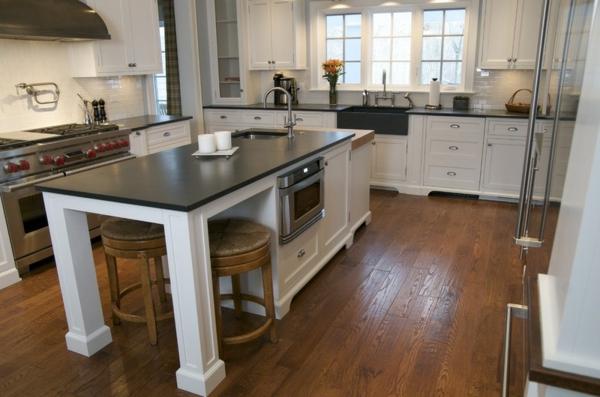 küchenarbeitsplatten granit oder schiefer kücheninsel ideen