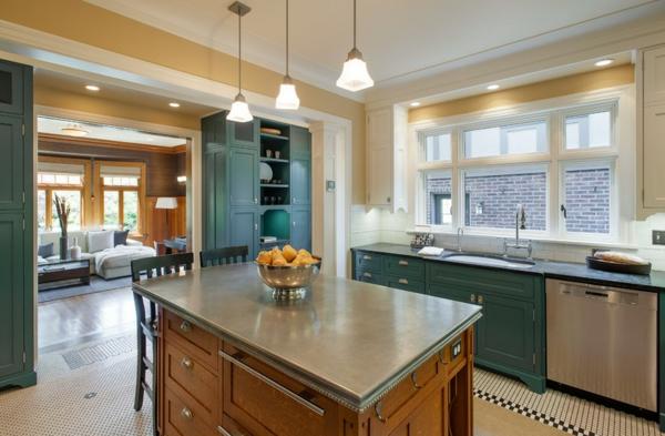 küchenarbeitsplatten granit oder zink küche palanen einrichtungsideen