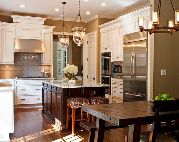 küchenausstattung Kücheneinrichtung und Küchenmöbel holz esstisch