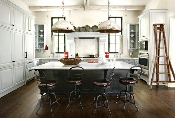 hocker lehnen leder kücheneinrichtung industriell look