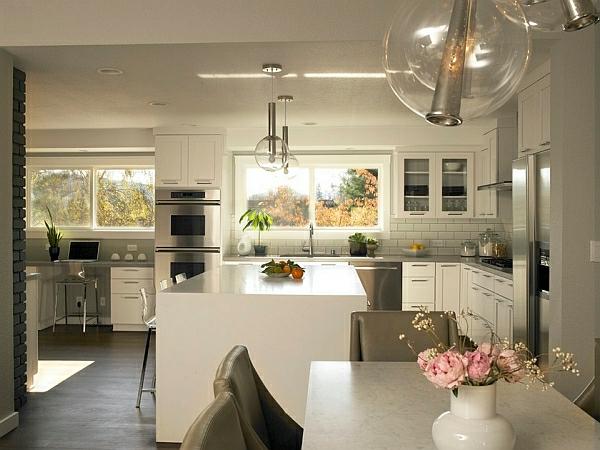 kücheninsel küchenrückwand Pendelleuchten fürs Esszimmer