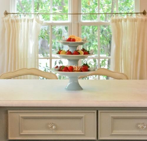 küchenvorhänge küche gestalten gardinen ideen