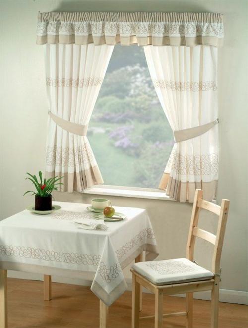 küchen vorhänge küche gestalten ideen gardinen wohnküche esszimmer ...