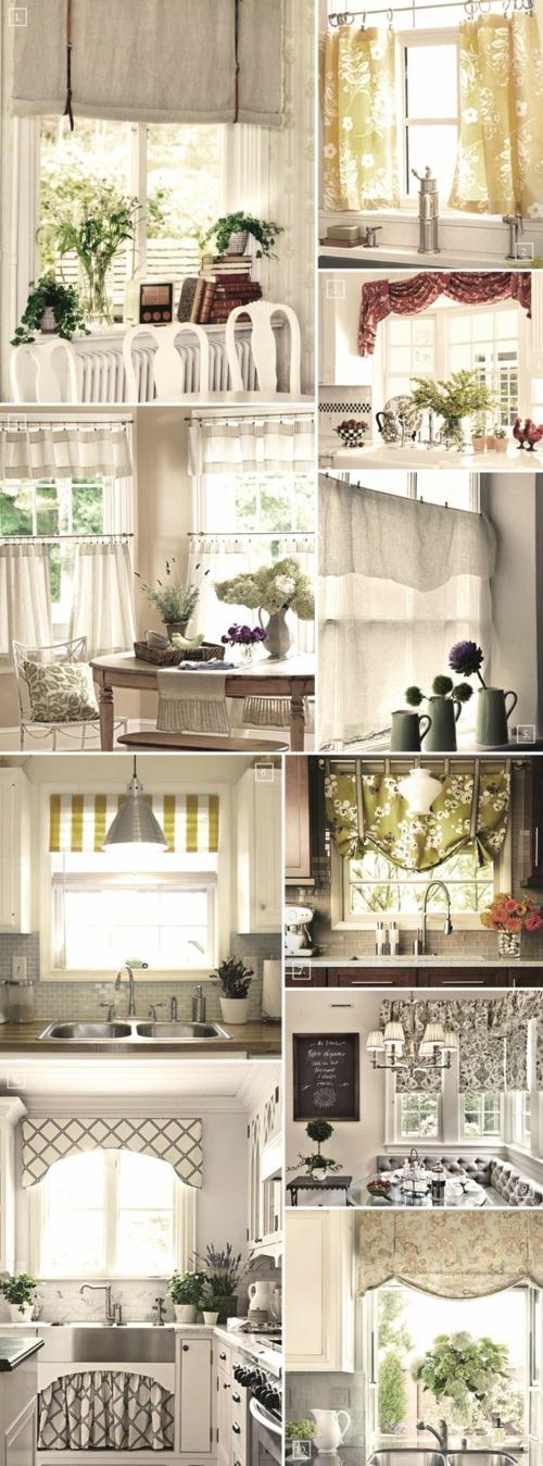 küchenvorhänge küche gestalten ideen gardinen