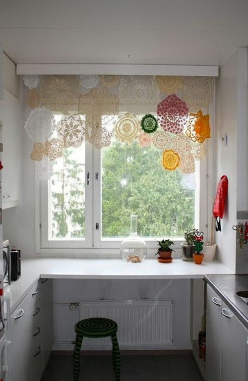 küchenvorhänge dienen als sonnenschutz und peppen ihre küche auf - Küche Vorhang