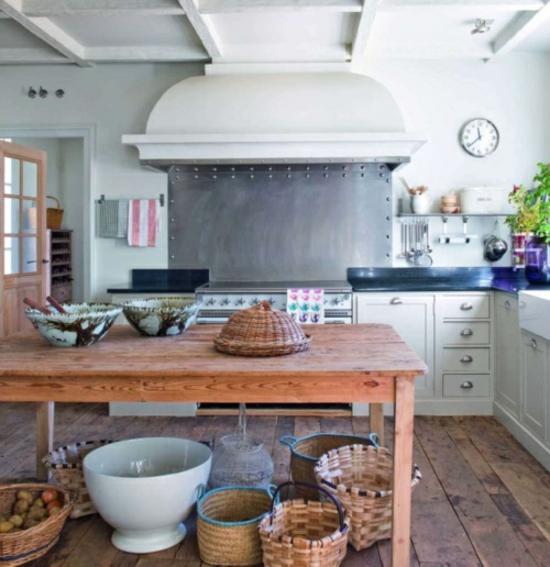 Deckenleuchte Holz Rustikal ~ 50 moderne Landhausküchen – Küchenplanung und rustikale