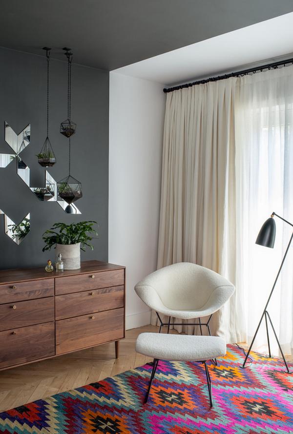 orientteppiche weißer stuhl pendelleuchten
