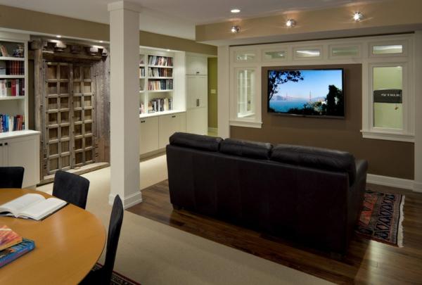 keller beleuchtung wohnraum leuchten einbauleuchten hausbibliothek