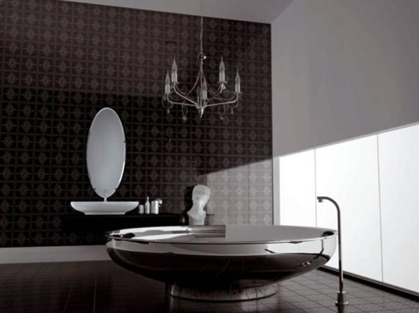 keramisch fliesen bad bilder ideen dunkel luxus
