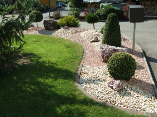 vorgartengestaltung mit kies - 15 vorgarten ideen, Gartenarbeit ideen