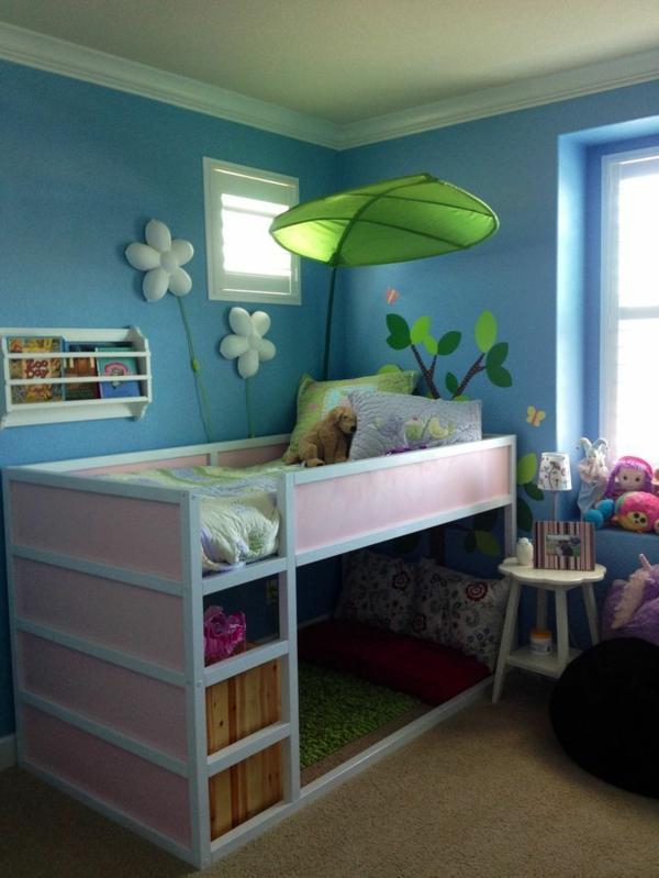 kinderzimmer design ideen bett mit spielraum - Kinderzimmer Ideen