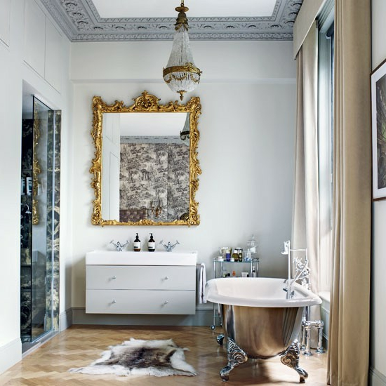 klassisch luxus wandspiegel rahmen badezimmer