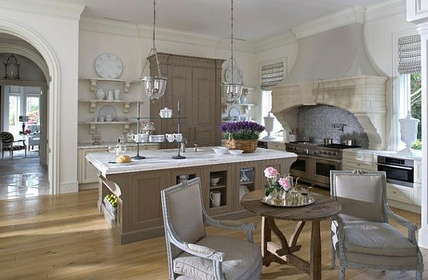 kleine küche einrichten klassisch farben englisch landhausstil