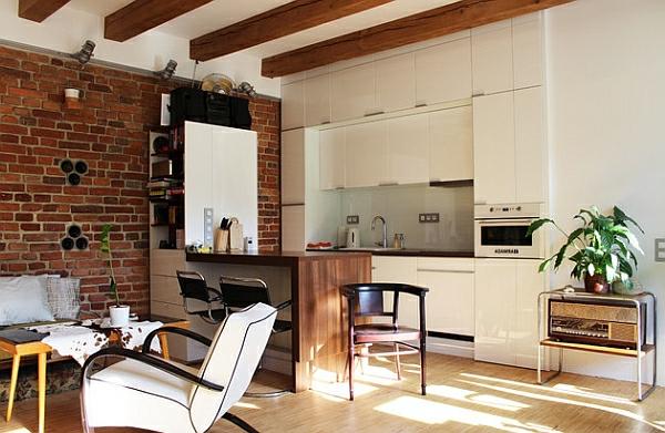 einrichten kleine küche idee apartment urban
