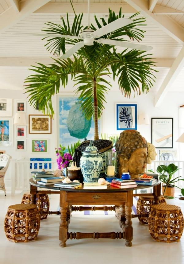 korridor gestaltungsideen tropischer stil blau und weiß keramike