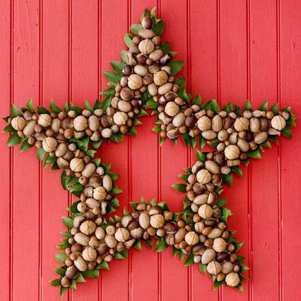 kreative weihnachten dekoideen kranz wie stern
