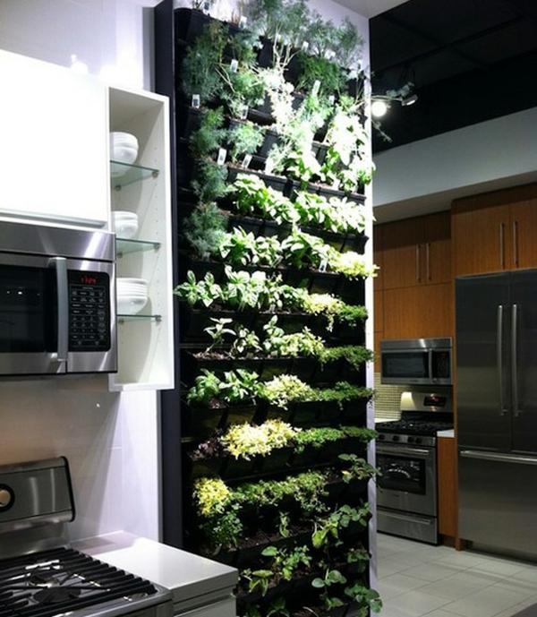 kreative wohnideen küche küchenideen gewürze frisch regal